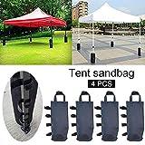 4 STÜCKE Pavillons Gewichte Taschen, Anti-Schlaf-Unterstützung Festzelt Tasche, Beinstange Große...