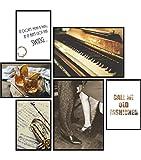 Poster Set Jazz | 6 Bilder als stilvolle Wanddeko | 2X DIN
