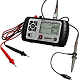 allsun 2 In 1 Digital Automotive Oscilloscope Handheld Lab Scope Digital Storage Multimeter Portable,25MHz Single Channel 6000-count Chip Large LCD Screen High-Speed CPU