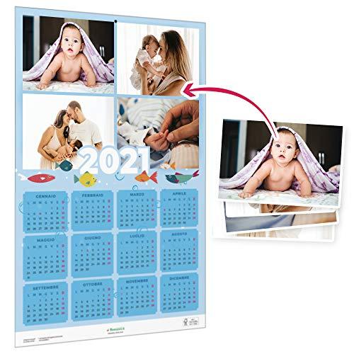 Calendari personalizzati 2021 con foto a parete - SCONTO SU QUANTITÀ - Ideali per...