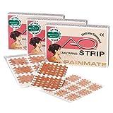 AQ-Strip Premium Cross Tape | Gittertapes Gitterpflaster Kinesiologie Pflaster Akupunktur| Ideal gegen Schmerzen | Typ A B C | versch. Farben (Hautfarben, Typ A - 20 Blatt a 9 Pflaster)