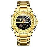 Los Hombres Miran los Relojes Militares Deportivos de los Hombres de la Marca de Lujo Superior Reloj Digital de Cuarzo Impermeable de Acero Completo Relogio Masculino