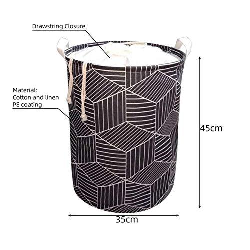 Finer Geometrische Opvouwbare Wasmand Ronde Opbergtas Bag Mand Opvouwbare Kleding Emmer Organizer, 3B 35x45
