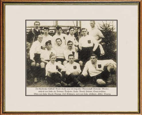 World of Football Fotorahmen Karlsruhe DT. Meister 1910