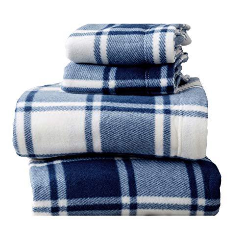 Super Soft Extra Plush Plaid Fleece Sheet Set....