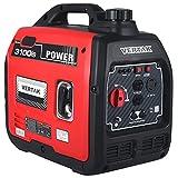 VERTAK 3000 Watt Gas Powered Portable Inverter Generator with Auto Switch&Shut-Off -...