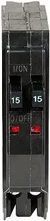 1- QO1515C SQUARE D MINIATURE CIRCUIT BREAKER 120/240V 15A-15A TWIN DUPLEX