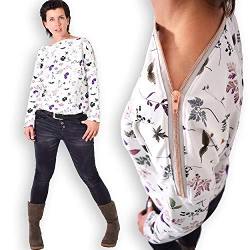 leni pepunkt Schnittmuster Pullover Damen in den Größen XS - XXXL zum Nähen mit Anleitung und 5 Webetiketten
