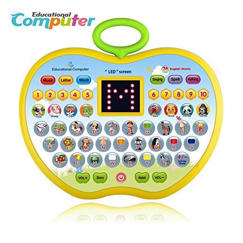 Education Toy for Kids Girls, Birthday Present for 2-5 Year Old Boys Children Learning Computer Toys for 2-5 Year Old Girls Toddlers Gifts Age 2-5 Girls Boys