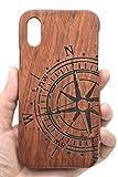 Holzsammlung iPhone X/iPhone XS Funda de Madera - Brisa de Palos de Rosa - Natural Hecha a Mano de Bambú/Madera Carcasa Case Cover