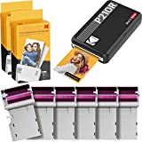 "Kodak Mini 2 Retro Portable Instant Photo Printer, Wireless Connection, Compatible with iOS, Android & Bluetooth, Real Photo (2.1""x3.4""), 4Pass Technology & Lamination Process, Premium Quality- Black"