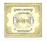 London to Hogwarts Train Ticket Design Print Image Double Light Switch Plate