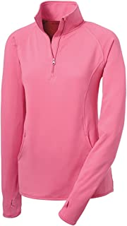 Ladies Moisture Wicking 1/2-Zip Stretch Pullover Sweatshirts in XS-4XL