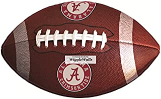 10 Inch Football University of Alabama Crimson Tide ACT Logo Removable Wall Decal Sticker Art NCAA Home Room Decor 10 by 6 Inches
