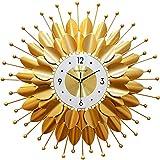 G-X Reloj de Pared de Metal de Arte de Lujo de Estilo Europeo, Reloj de Estrella silencioso Moderno con Pilas, Relojes de Cuarzo de Color Pop, Sala de Estar y Dormitorio Decorativos,60X60cm