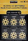 Kirkland Signature Hearing Aid Batteries 48 Pack Zinc Air, Size 10