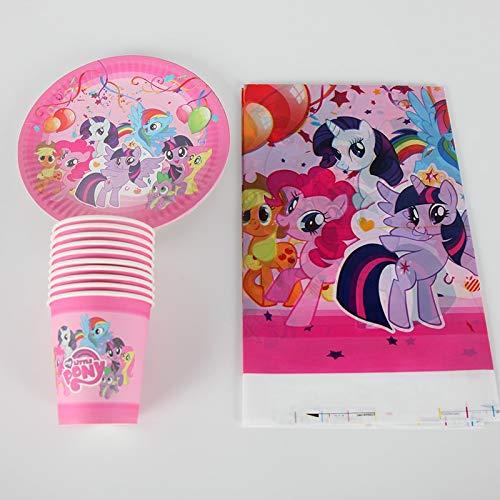 para 20 Niños Fiesta De Cumpleaños Suministros Decoración My Little Pony Plato De Papel Taza Taza Cubierta Conjunto Baby Shower Pary Favors 41 Unids/Set