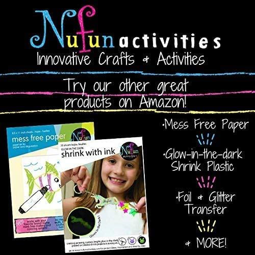 Inkjet Printable Iron On Heat Transfer for Dark Fabrics, 8.5 x 11 inch, (100 Sheets) by NuFun Activities
