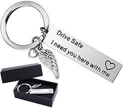 Warm Keychain Drive Safe Ich Brauche Sie Hier mit Mir Geschenke für Freund Mann Bester Freund Geburtstagsgeschenk Schlüsselanhänger Valentinstag