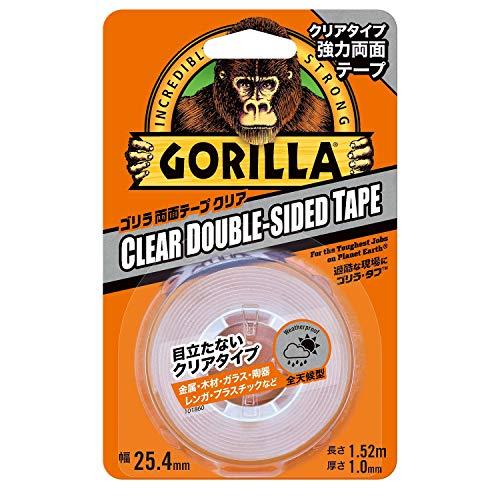 GorillaGlueゴリラ強力両面テープクリア25.4mm×1.52m
