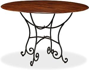 vidaXL Table de Salle à Manger Bois Acacia et Finition Sesham 120x76cm Maison