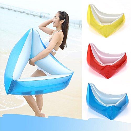 Fanuosu Anillo de natación Inflable, Triángulo Inflable PVC Piscina Anillo Flotador Asiento de la Piscina para Adultos niños niños niñas niños Playa Juguete (Color : Azul)