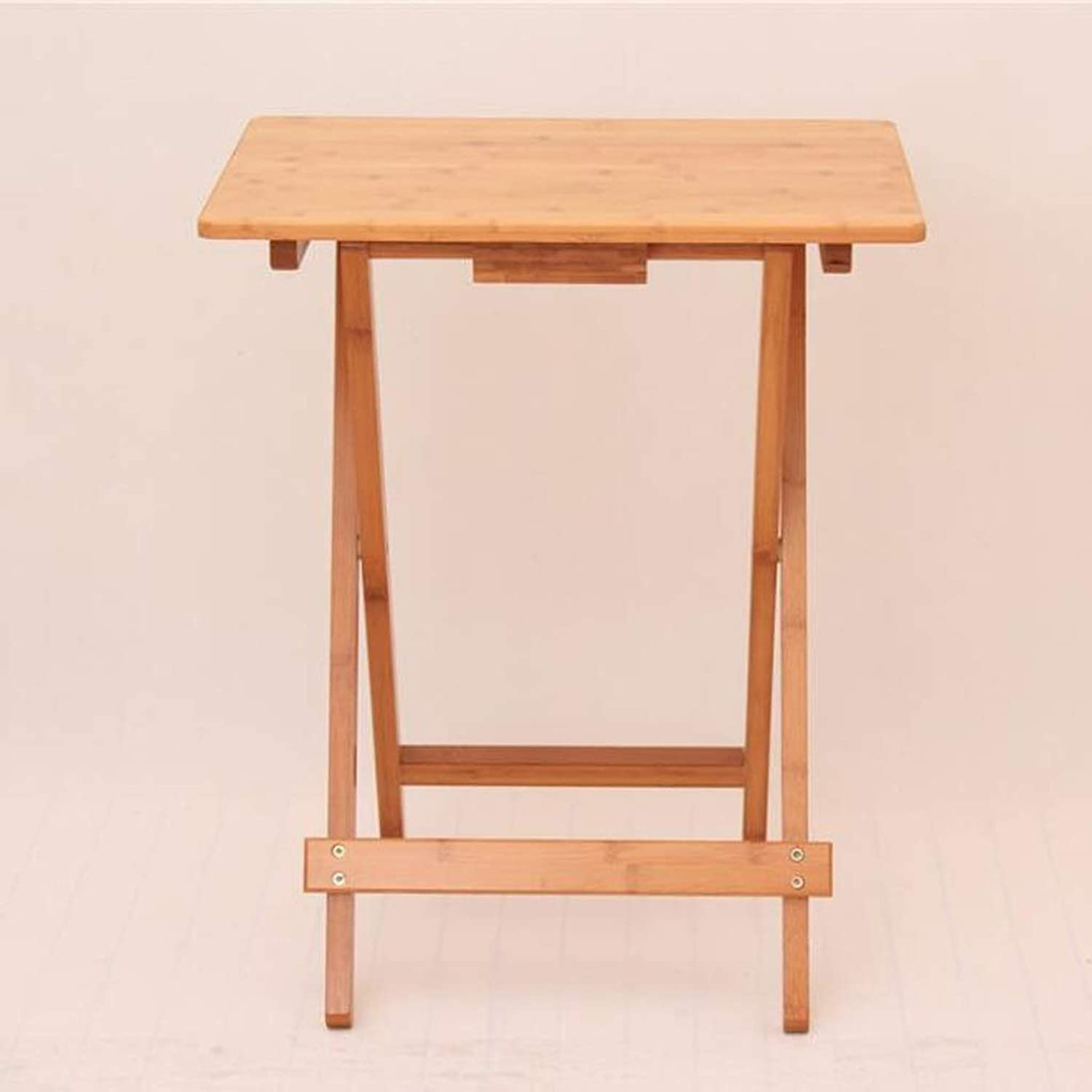 JSFQ Wooden Snack Table Home Simple Folding Table Student Desk   50 × 35.6 × 68cm, Two Folding Table (Size   50×36.5×62cm)