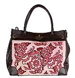 BZNA Bag Liana braun Fell fuxia vintage Italy Designer Business Damen Handtasche Ledertasche Schultertasche Tasche Leder Shopper Neu