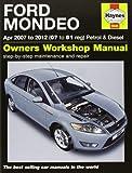 Ford Mondeo Petrol & Diesel Service and Repair Manual: 2007-2012 (Haynes Service and Repair Manuals)