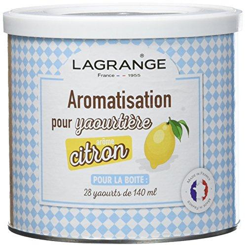 Lagrange Aromatisation Citron pour Yaourts 425 g Pack de 4