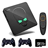 Super Console X King S922X Android 9.0&EmuELEC 4.1&CoreELEC System 3 in 1,Video Game Console for 4K TV 1080P HD/AV Output, Dual Band WiFi, Voice Remote Control,2 Controllers(256GB)