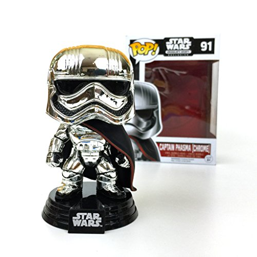 Desconocido Star Wars Captain Phasma Chrome Pop! Smugglers Bounty Exclusive 91 by Unknown