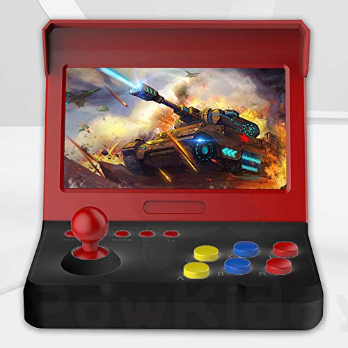 7 pouces rétro mini console de jeu portable 3600 joueur de jeu (avec gros manettes de jeu)