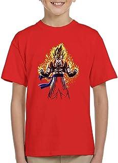 Cloud City 7 Gogeta Gold Dragon Ball Z Fusion Reborn Kid's T-Shirt