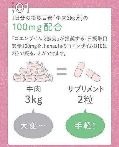 hanauta還元型コエンザイムQ10100mg1ヶ月分+7日分
