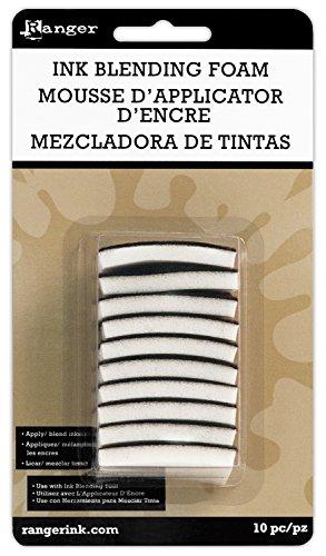 Toga IBT23623 Lot de 10 mousses de Rechange pour Tampon applicateur, Blanc, 4,3 x 3 x 0,5 cm
