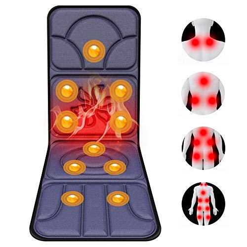 ZHHID Massagematte - Akupressur MassagegeräT - Massageliege Klappbar - Massagekissen mit WäRmefunktion, 5-Massage-Methode