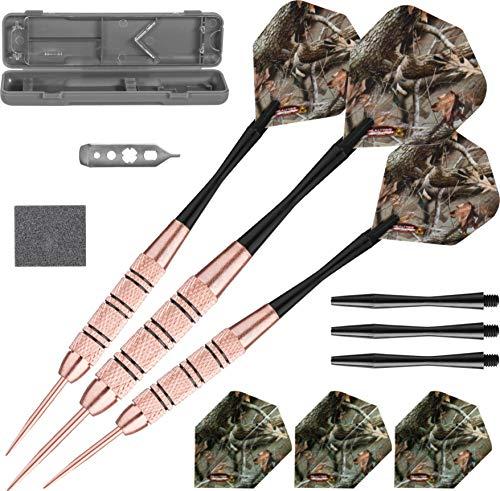 Fat Cat, Realtree Hardwoods HD-Camouflage Darts mit Stahlspitze und Aufbewahrungs-/Reisetasche, 23Gramm