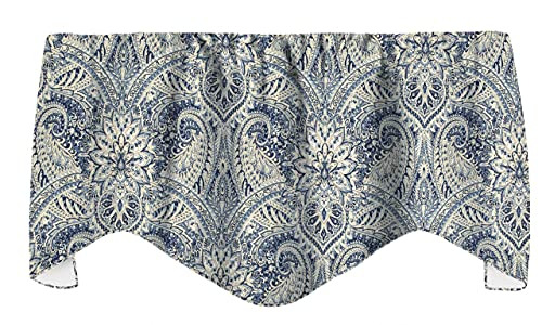 Window Treatments Valance Curtains Kitchen Window Valances or Living Room Blue Curtains Paisley Curtains