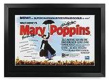 HWC Trading Cartel De La Película Mary Poppins Fr A3 Imagen Autógrafo Regalos Dick Van Dyke Impresa Póster Firmado Para Los Fanáticos De Recuerdos De Películas Julie Andrews, - A3 Enmarcado