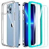 ESR Hybrid Case Compatible with iPhone 13 Pro Case, Includes 2-Pack Tempered-Glass Screen Protectors, Reinforced Drop Protection, Shock-Proof Bumper, Scratch-Resistant Case, Classic Series, Clear