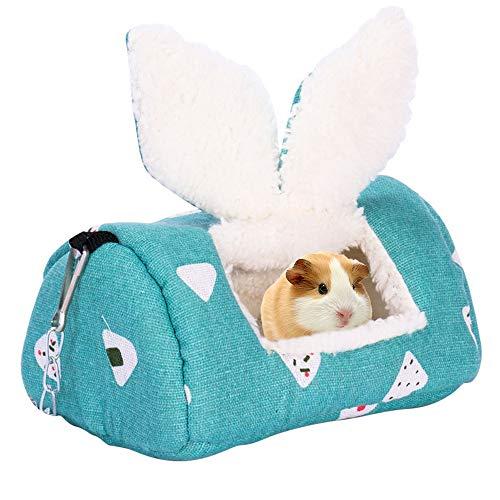 Cysincos Kleintierbett Kuschelbett Warm Plüsch Kuschelhöhle Baumwolle Tierbett Schlafen Bett Höhle Zubehör für Hamster Ratten Kleintierkäfig