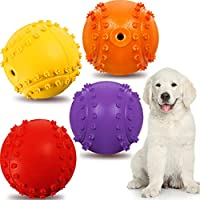 Safe rubber material: made of odorless and non-toxic rubber material, the durable rubber interactive fetch chew toy is safe to use and easy to clean, providing good bite resistance Squeaking sound: the squeaky sounds can attract the dog's attention a...