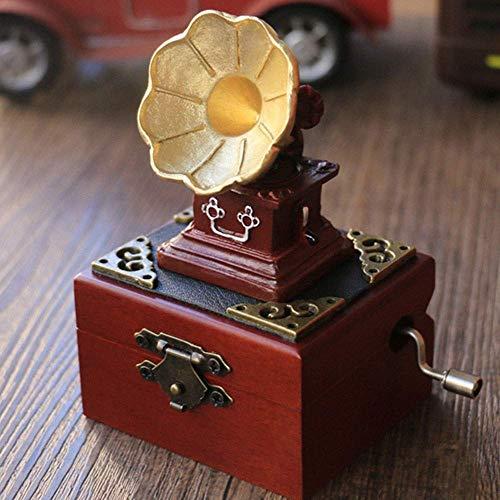 zhipeng Música de estilo retro Bo Music Bo Muebles para el hogar Regalos Adornos Personalizados Regalo de Cumpleaños 9 * 6 * 10,5 CM hsvbkwm