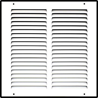 Steel Return Air Grille | HVAC Vent Cover Grill for Sidewall and Ceiling, White