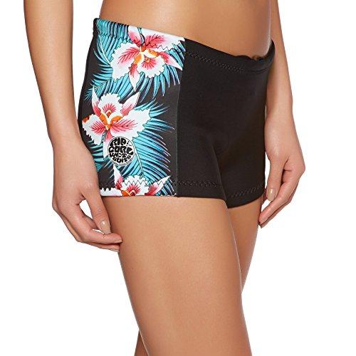 Rip Curl G-Bomb Dames Boyleg 1 1MM Neopreen wetsuit shorts Zwart Sub - Gemakkelijk stretch - 100% E4 neopreen - 1mm dikte - E-steek