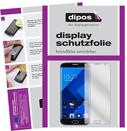 dipos I 4X Schutzfolie klar kompatibel mit BLUBOO Edge Folie Bildschirmschutzfolie (2X Vorder- und 2X Rückseite)