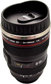 e37281d5b2 Silicone Gold SG3109 Mug Objetivo fotográfico, Acero Inoxidable, Negro,  16x7x7 cm