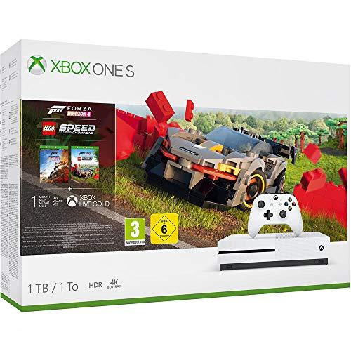 Microsoft - Consola 1 TB, Mando Inalámbrico, Forza Horizon 4, LEGO Speed Champions (Xbox One S)