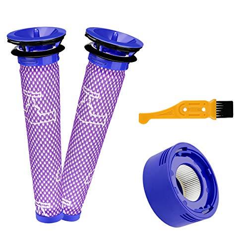 Energup 2pcs V7 V8 Ersetzt Filter und Vorfilter für Dyson V8 V7 Pre-Filter Vormotorfilter